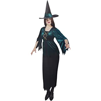 com-four® disfraz de Bruja para adultos para Carnaval, Carnaval ...
