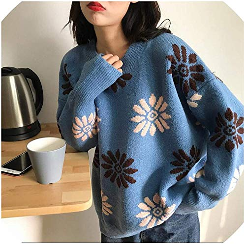Dames Jumper Dikke Truien Losse Sneeuwvlok Losse Luie Wind Sweater Lady Harajuku Jumper
