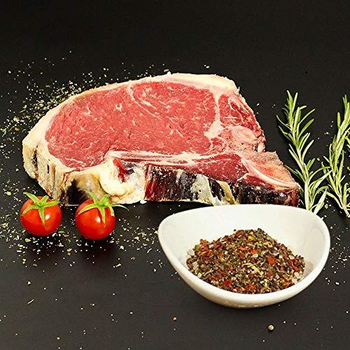 KAUF DEIN STEAK 4 * T-Bone-Steaks (DRY AGED am Knochen gereift) inkl. Steakpfeffer, 2,4kg Steakgenuss, Fleisch grillen und geniessen, bestes Fleisch, Steaks am Knochen gereift