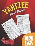 Yahtzee Score Sheets: 1000 Score Games for Scorekeeping - Yahtzee Score Cards with Size 8.5 x 11 inches (The Yahtzee Score Books)
