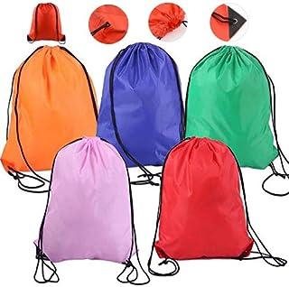 Lainrrew 5 قطع متعددة الألوان الرباط حقائب الظهر ، حقيبة خفيفة الوزن حقيبة الظهر سلسلة الصالة الرياضية حمل الحقائب لصالة ا...