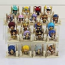 Linker Wish 21pcs/Set Japanese Anime The Gold Saint Seiya Athena Saori KIDO Action Figure Toys Dolls 4cm
