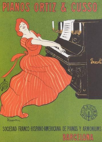Vintage Opera y música clásica PIANOS por Ortiz y Cusso, Barcelona, España...