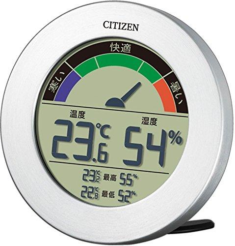 CITIZEN シチズン 温度計 湿度計 デジタル ライフナビD67B シルバー 8RDA67-B19
