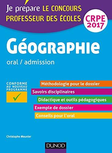 Geographie Professeur Des Ecoles Oral Admission Crpe 2017