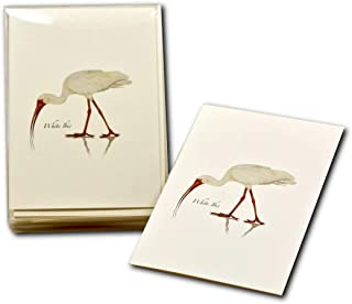 Earth Sky + Water - White Ibis Notecard Set - 8 Blank Cards with Envelopes