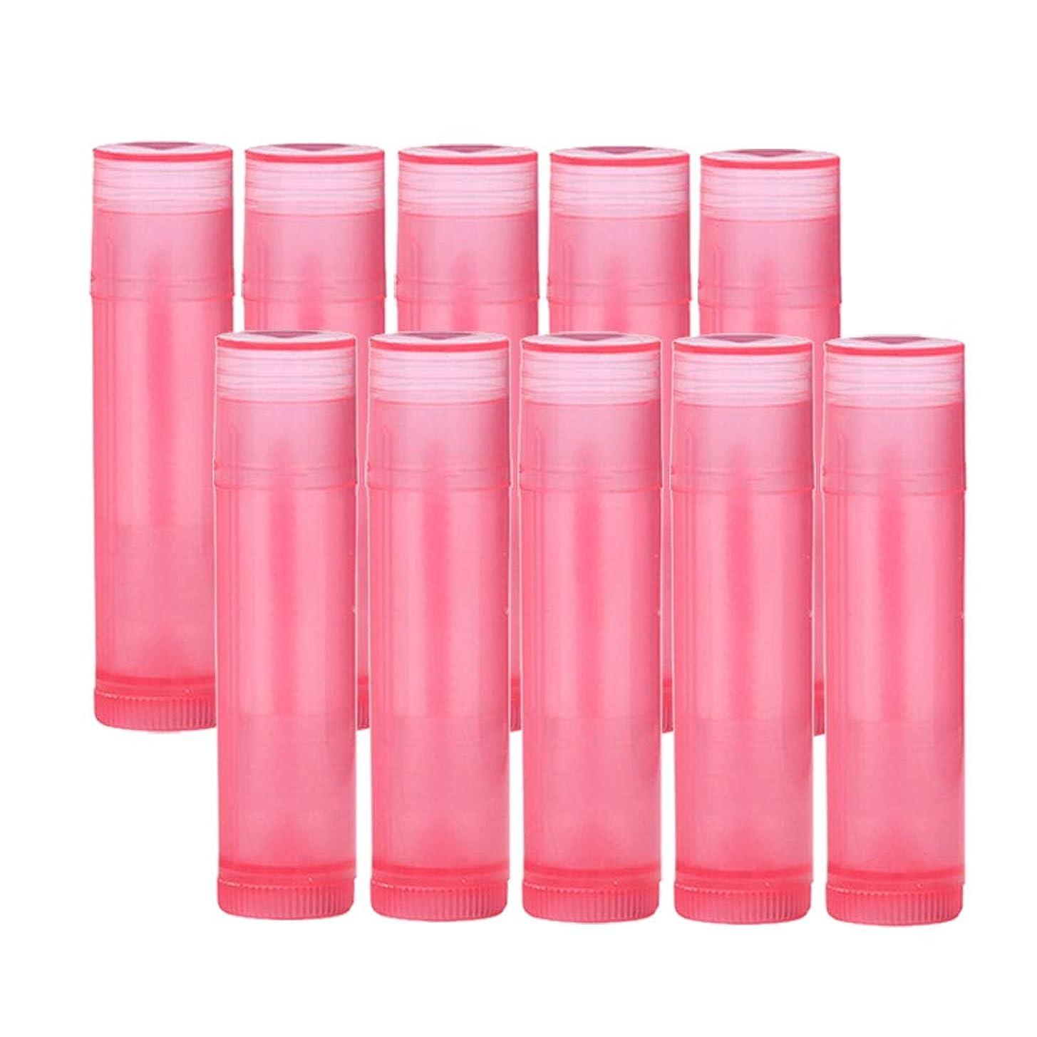 人気耐えられる驚SM SunniMix 空 口紅容器 口紅ボトル 口紅の管 口紅コンテナ 10個 全7色 - ローズレッド