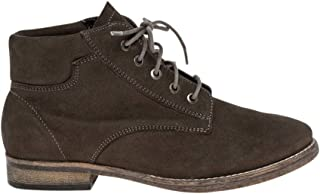 Nubuck Leather Lace-Up Boot,10,Taupe