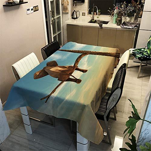 Surwin Wachstuchtischdecke Wachstischdecke Wachstuch Tischdecke abwaschbar für Tischsets Esstische Couchtische Und Küchen (Elefant auf dem Baum,140x200cm)