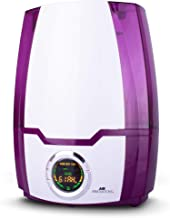 Air Innovations MH-505 Purple 505A Cool Mist Digital Humidifier with Aromatherapy 1.37 Gallons for Large Rooms Up to 400 Square Feet