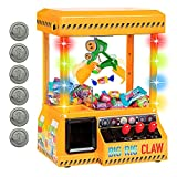 Bundaloo Big Rig Claw Machine Arcade Game - Miniature Candy Grabber for Kids - Electronic Prize Mini Toys Dispenser with Sound - Cool & Fun Party Game for Children (with Lights & Volume Control)