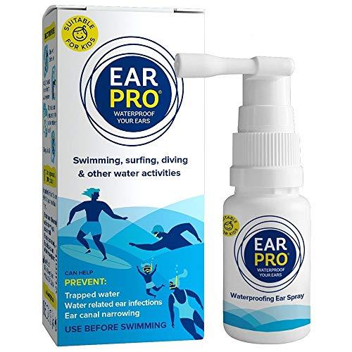 EarPro Ohrenspray gegen Beschwerden durch eingeschlossenes Wasser I Vor dem Tauchen Schwimmen & Surfen anwenden statt Ohrstöpsel I Für Säuglinge Kinder & Erwachsene jeden Alters