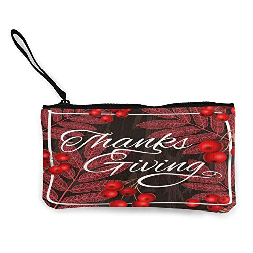 Canvas Coin,Autumn Tree Leaves Purse Zippered Travel Cosmetics Bag Multi-Function Makeup Bags Cellphone Bag Holder Bags Pencil Packet with Handle