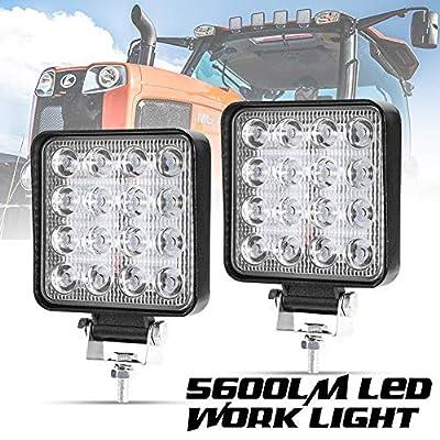 Liteway 2Pcs LED Work Light - 4 Inch Flood LED Light Bar for Tractor Offroad 4WD Truck ATV UTV SUV Driving Lamp Daytime Running Light