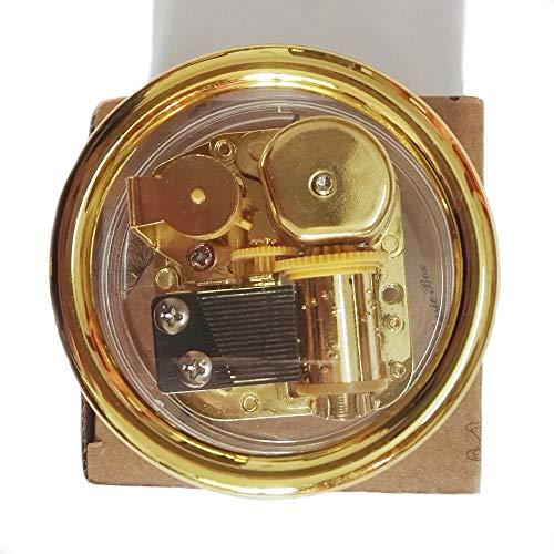 FnLy Caja musical de plástico acrílico transparente con 18 notas con movimiento chapado en oro, caja musical de varias formas, caja musical de juego de tronos, caja musical redonda