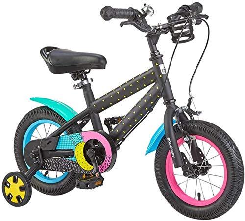 Bicicletas para niños, Bicicleta para niños 2-6 años Muchacho y niña Scooter 12/14/16 pulgadas Escuela primaria Deportes al aire libre Bicicleta Portátil Portátil (Color: Amarillo, Tamaño: 16in)