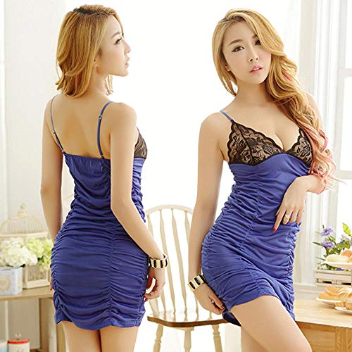 Dames echte pop Erotische Lingerie Sets Blauw geplooide rok dames sexy lingerie sexy pyjama trainingspak
