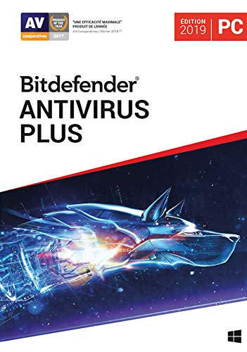 Bitdefender Antivirus Plus | Standard | 1 PC appareil | 1 An | PC | Code d'activation PC - envoi par email