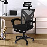 Gaming Chair Computer Chair, Ergonomic Backrest and Seat Height Adjustment Recliner Swivel 360 Degree Backrest Reclining Office Chair Backrest and Armrest's Mesh Chair-USA Fast Shipment (Black)