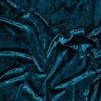 ベロア 生地 刺繍 手芸 ハンドメイド 布地 DIY 幅1.6m メーターで販売(Color:ピーコックブルー)