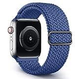 Jiamus Geflochtenes Solo Loop Armband Kompatibel mit Apple Watch Armband 38mm 40mm 42mm 44mm,Elastic...