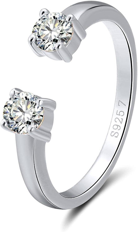 Women'S Sterling Silver Ring Unique Award-winning store Opening Sale SALE% OFF Adjustable Zircon Ri