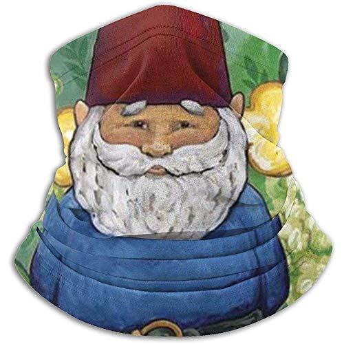 NA Gartenzwerg Schal Nackenwärmer Weiche Mikrofaser Kopfbedeckung Gesicht Schal Maske für kaltes Wetter Winter Outdoor Sports