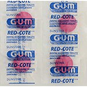 GUM Red-Cote Disclosing Plaque Tablets- Cherry Flavor  40 tablets