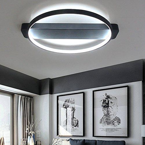LightInTheBox LEDシーリングランプ埋め込み寝室、リビングルーム照明ペイントスプレーランプ電圧= 100-240V、暖かい白色光源、ブラック