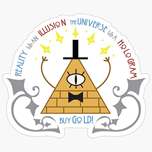 WillettaStore Bill Cipher - Art Nouveau Stickers (3 Pcs/Pack)