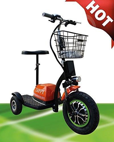 "ElektroMobil\""ORANGE ZAPPY!\"" Elektro Scooter Seniorenmobil Dreirad Elektro Roller Elektrorollstuhl"