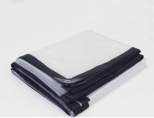 XRFHZT Baches Pare-Soleil de Voiture Ultra légère imperméable à l'eau épaisse Feuille de Plastique Transparent Tissu de Pluie,3mx8m