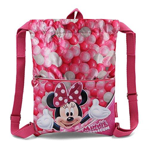 Karactermania Minnie Mouse Bubblegum Bolsas con Cordón, 42 cm, Rosa