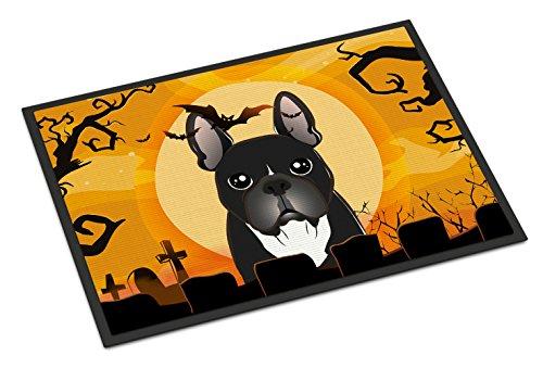 Caroline's Treasures BB1785MAT Halloween French Bulldog Indoor or Outdoor Mat 18x27, 18H X 27W, Multicolor