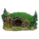 Pineapplen Decorazione per Acquario Casa Hobbit Piccola Grotta Adatta per Nascondere I Rettili Decorazione per Acquario