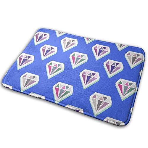 N \ A Non-Slip Welcome Door Mat Flannel Modern Diamonds Abstract Seamless Pattern Soft Floor Bath Mat Indoor/Outdoor Carpet 40x60cm-9LQ