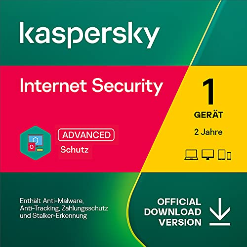 Kaspersky Internet Security 2021 | 1 Gerät | 2 Jahre | PC/Mac/Mobile | Aktivierungscode per Email