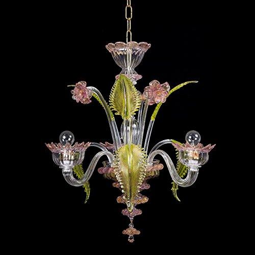 Torcè - Lámpara de techo de cristal de Murano con 3 luces 🔥