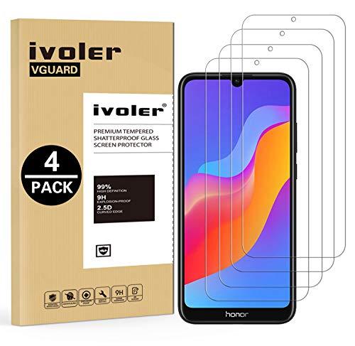 VGUARD [4 Unidades] Protector de Pantalla para Huawei Y6 2019 / Huawei Y6s 2019 / Huawei Honor 8A, Cristal Vidrio Templado Premium para Huawei Y6 2019 / Huawei Y6s 2019 / Huawei Honor 8A