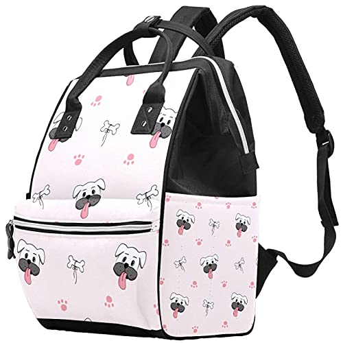 WJJSXKA Zaini Borsa per pannolini Laptop Notebook Zaino da viaggio Hiking Zainetto per Donna Uomo - Simpatico muso di cane