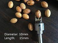 LY-YY 鋼製 超硬 プレミアムラグビーカッタールータは、超硬ブレード木工フライスオーバルビーズ成形工具ルーターは、ドリルビットセットビットビット (Cutting Edge Length : 10mm)