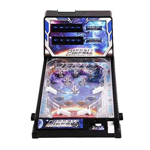 VOCD Máquina De Pinball para Adultos Y Niños, Space Super Mini Pinball Table Toy, Bisel Liso, Interruptor Independiente, Fuerte Y Resistente