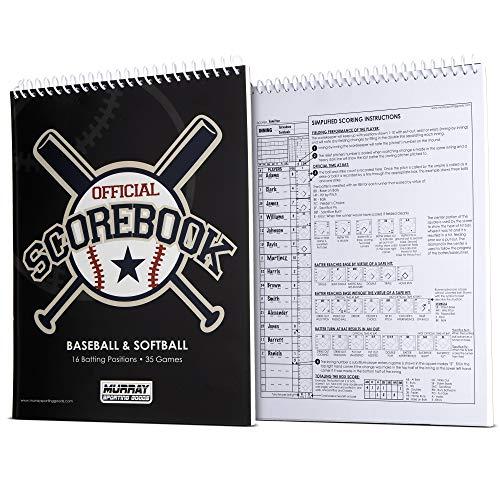 Murray Sporting Goods Baseball/Softball Scorebook - 35 Games - 16 Players
