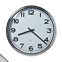 IKEA - PUGG Wall Clock, Chrome Plated