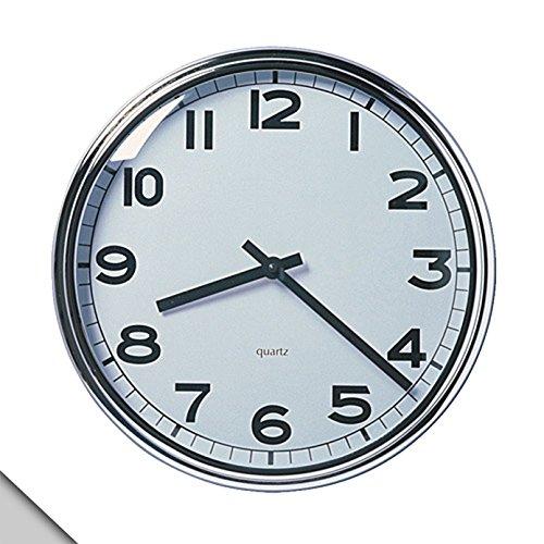 IKEA PUGG - Reloj De Pared, Cromado De Acero Inoxidable