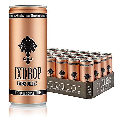 IXDROP Energy Deluxe Superfood Drink Dosen Getränke 24er Palette, EINWEG 24 x 250ml (1 Tray)