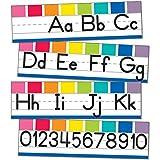 Schoolgirl Style - Hello Sunshine   Alphabet Line   Manuscript Mini Bulletin Board, 8pcs