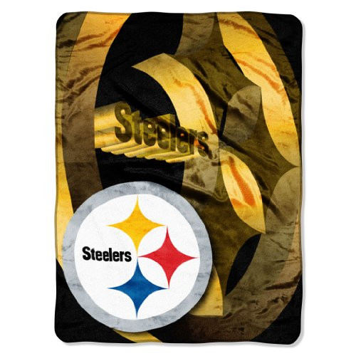 The Northwest Company Officially Licensed NFL Pittsburgh Steelers Bevel Micro Raschel Throw Blanket, 60