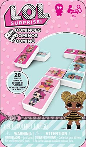 Cardinal Games Boite Metal Dominos L.O.L Surprise 6052514 Multicolor