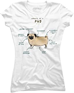 Anatomy of a Pug Juniors' Graphic T Shirt - Design By Humans